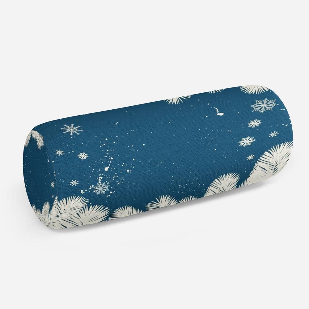 3D подушка-валик «Снежные еловые ветви»