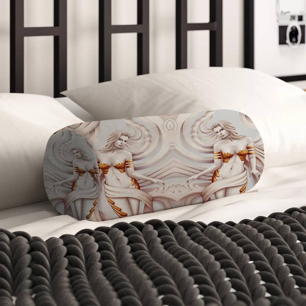 Декоративная вытянутая подушка «Барельеф с сиренами» вид 2