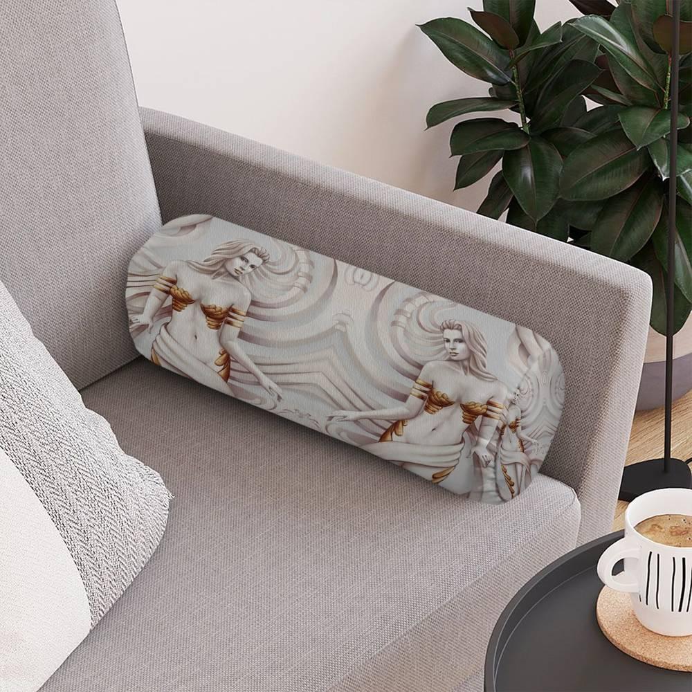Декоративная вытянутая подушка «Барельеф с сиренами» вид 4