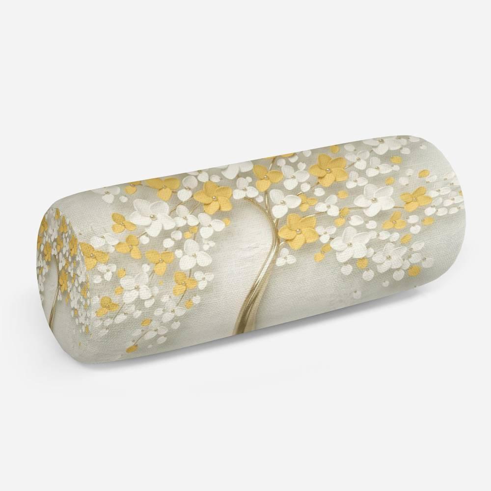 3D подушка-валик «Листья в золоте»