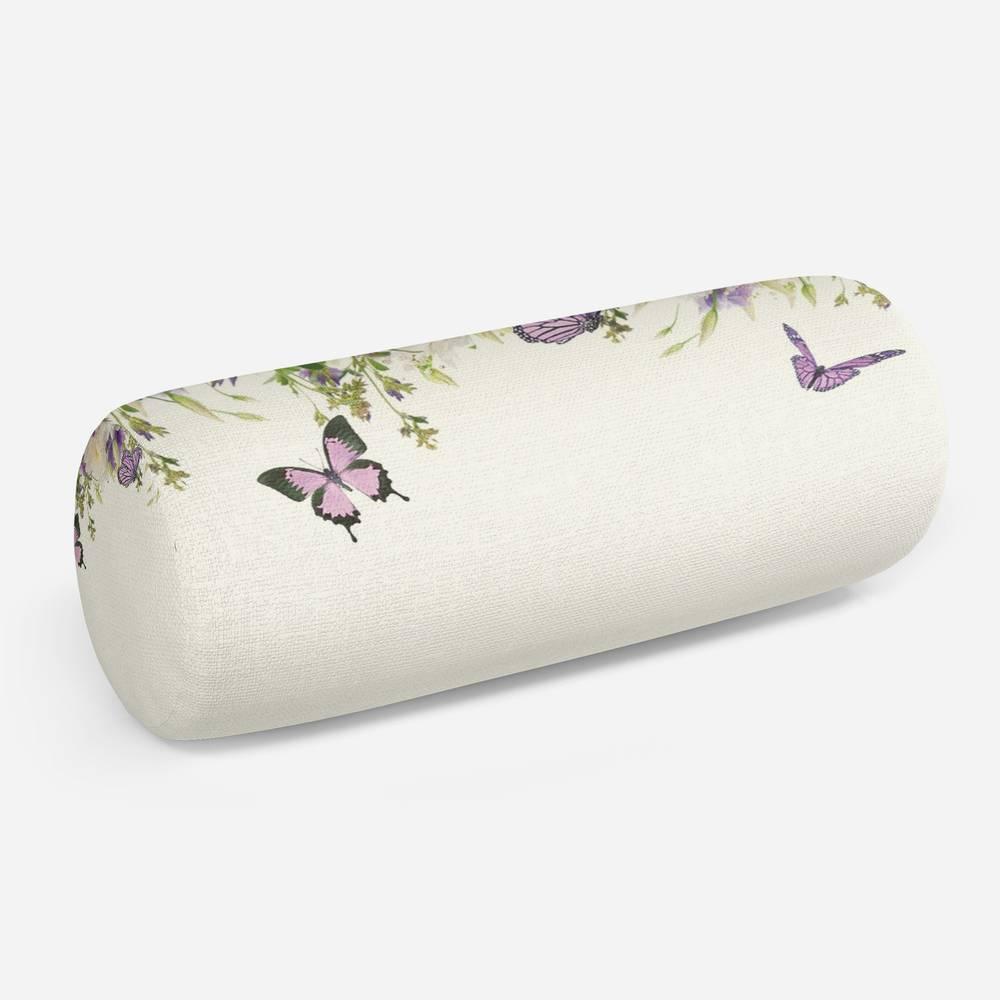 3D подушка-валик «Сиреневые бабочки»