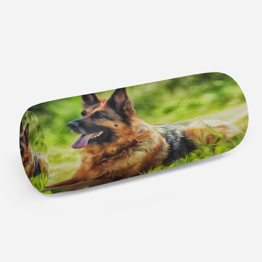 3D подушка-валик «Овчарка на лугу»