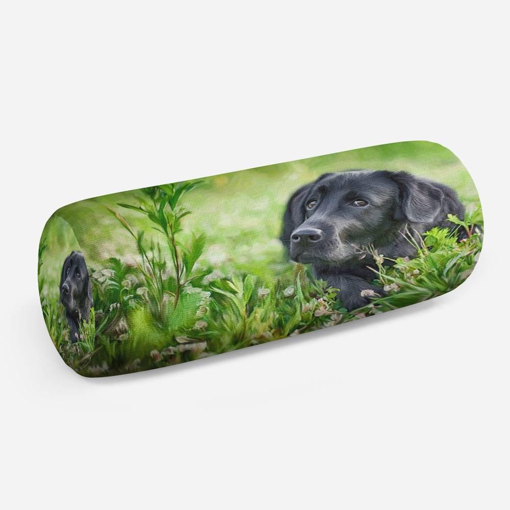 3D подушка-валик «Собачка в траве»