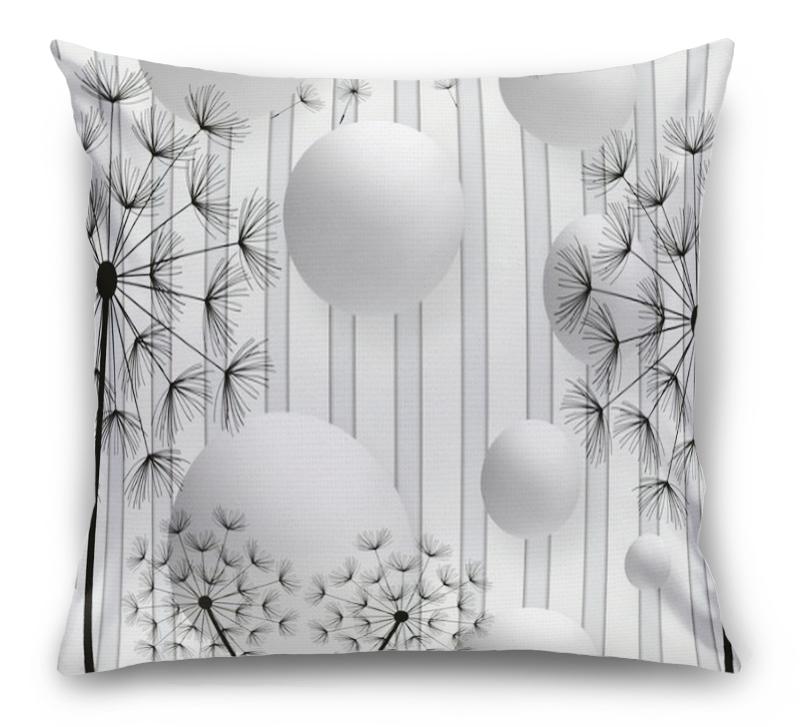 3D Подушка «Абстракция с одуванчиками» вид 1