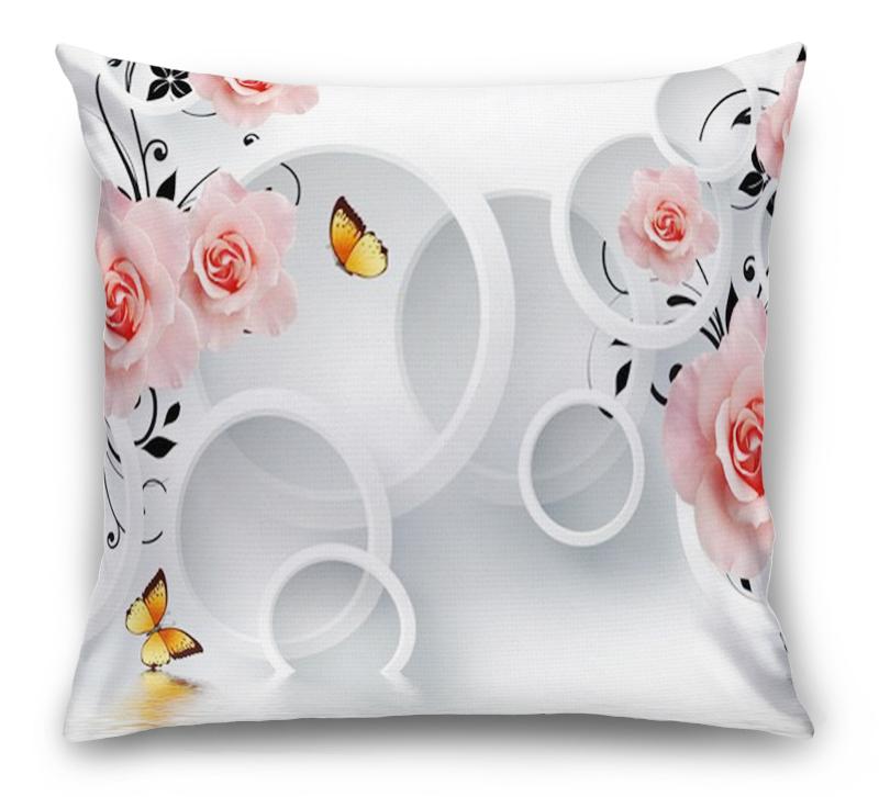 3D Подушка «Бутоны роз над водой»  вид 1