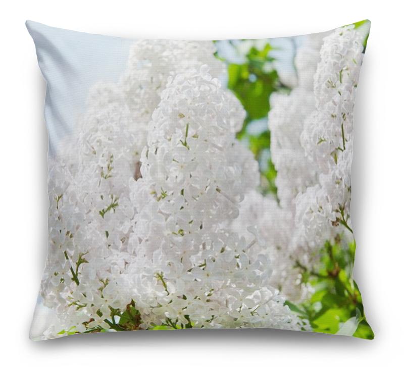 3D Подушка «Белая сирень»