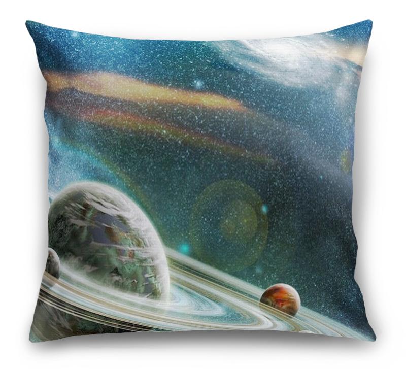 3D Подушка «Космический пейзаж»  вид 1