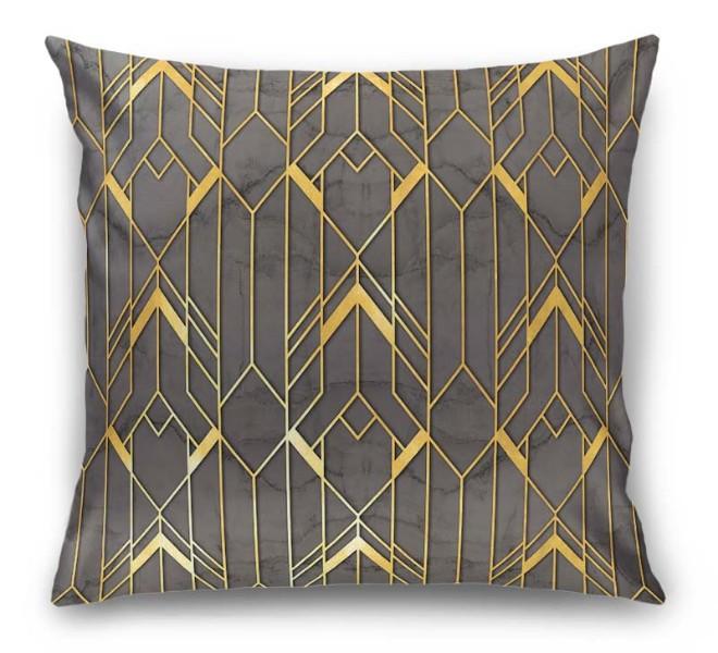 3D Подушка  «Золотые нити» вид 1