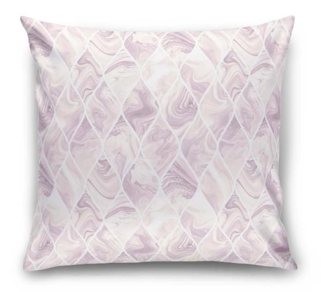 3D Подушка «Разводы на розовом мраморе»