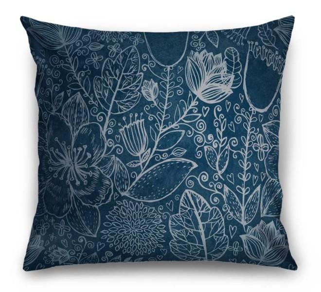 3D Подушка «Вечерние цветы» вид 1