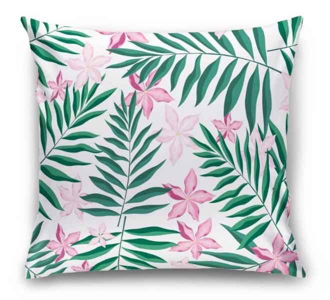 3D Подушка «Нежность в тропическом саду» вид 1