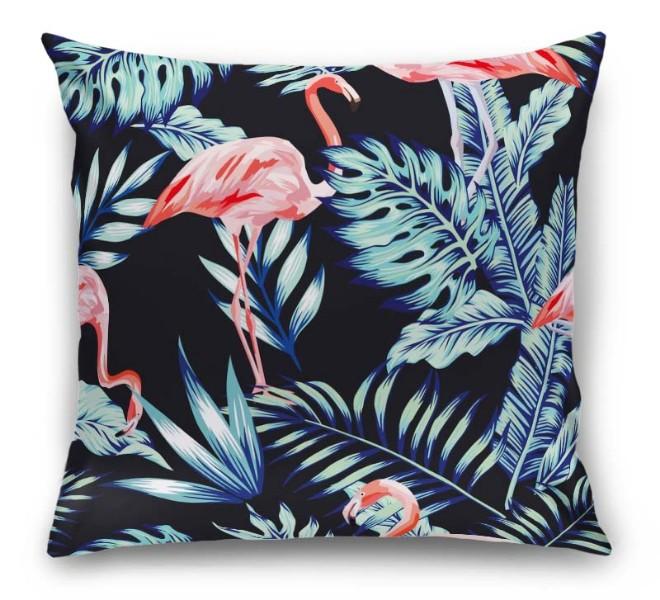 3D Подушка «Тропическая ночь.Фламинго» вид 1