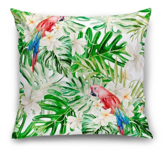 3D Подушка «Оазис с попугаями» вид 1