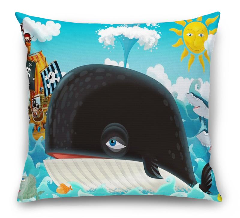 3D Подушка «Пираты и кит»  вид 1