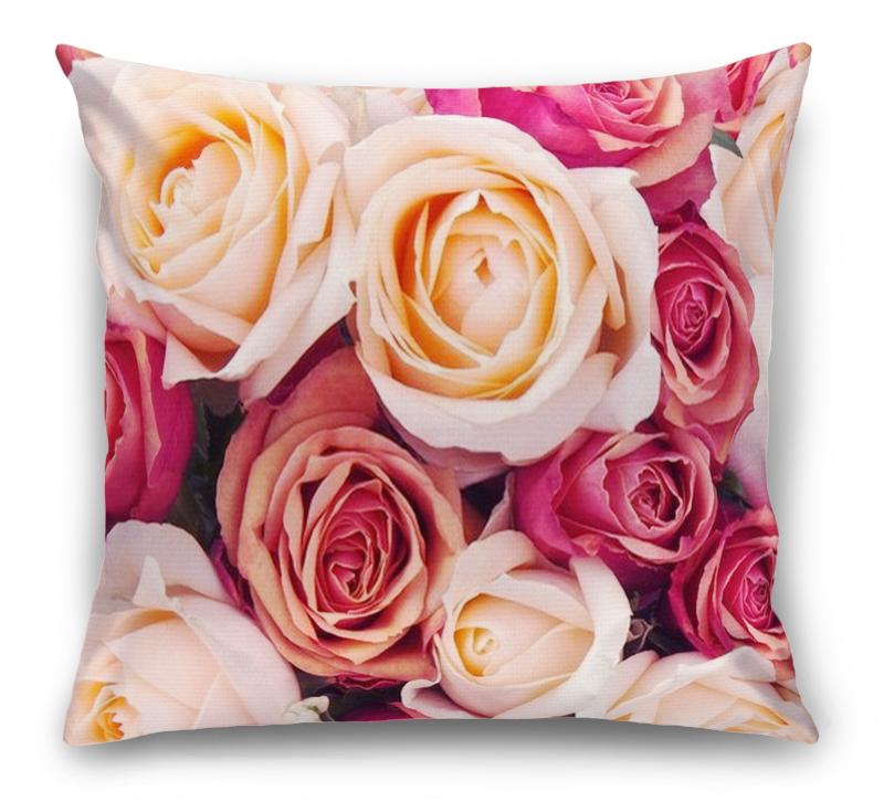 3D Подушка «Ассорти из роз» вид 1