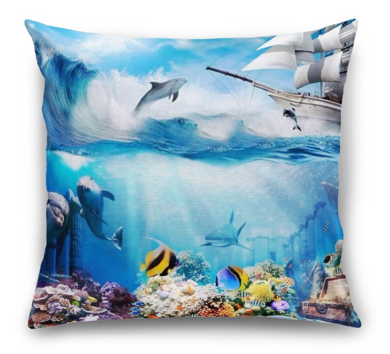 3D Подушка «Морские глубины» вид 1