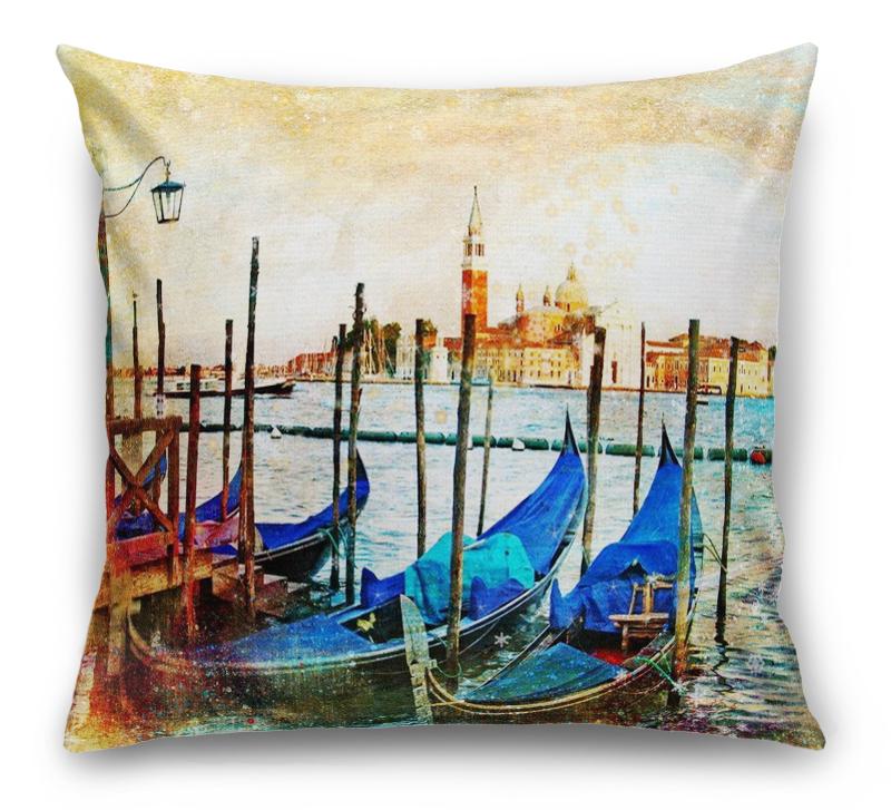 3D Подушка «Фреска Венеция» вид 1