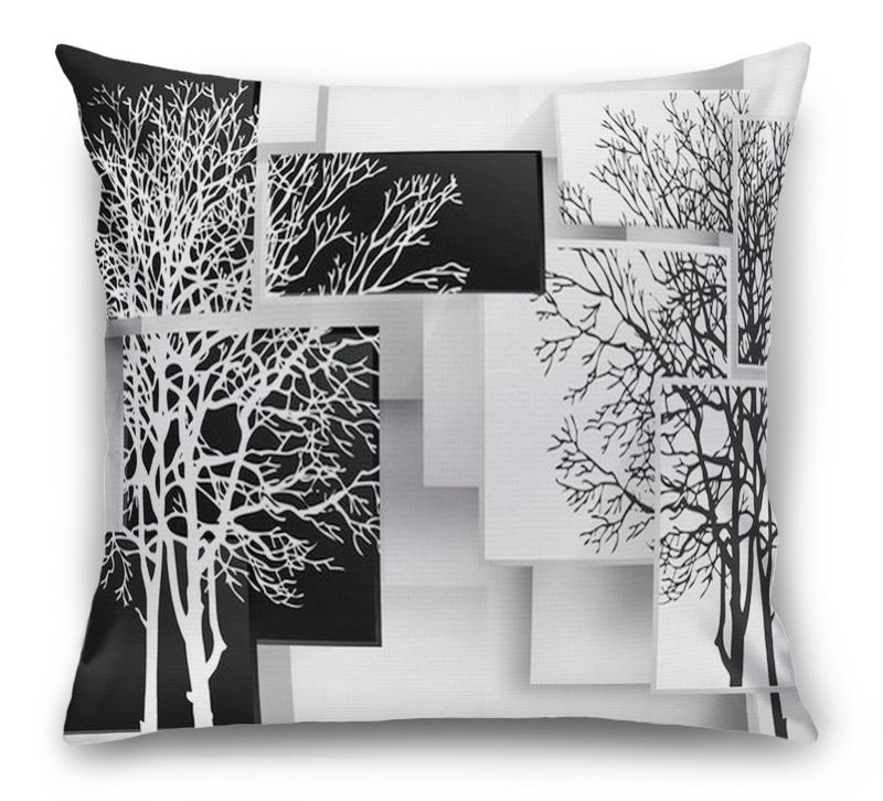 3D Подушка «Деревья в стиле модерн» вид 1