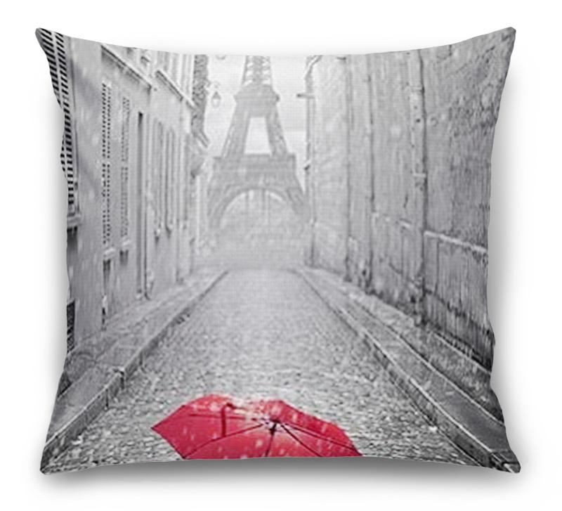 3D Подушка «Дождь в Париже» вид 1