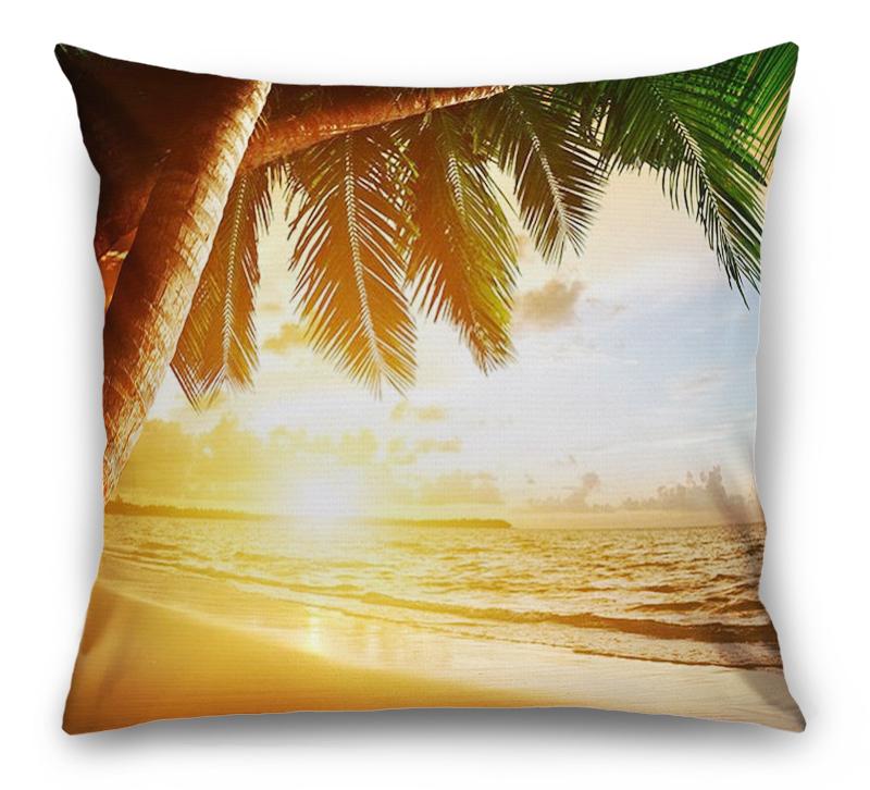 3D Подушка «Закат под пальмами»  вид 1