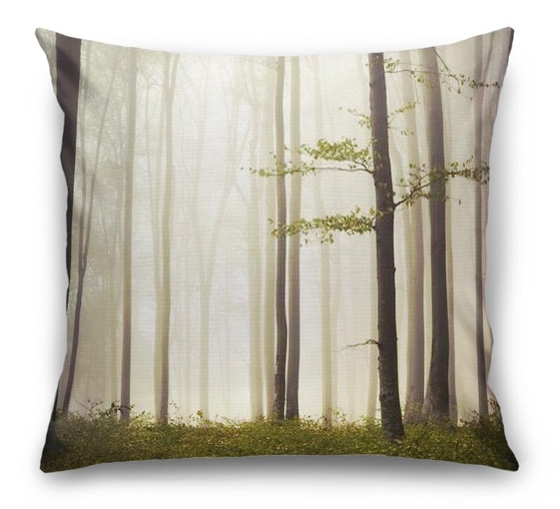 3D Подушка «Лес в тумане»  вид 1