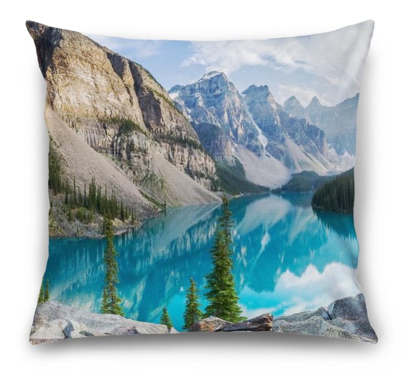 3D Подушка «Горное озеро в Альпах»  вид 1