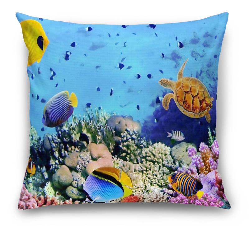 3D Подушка «Подводный мир» вид 1