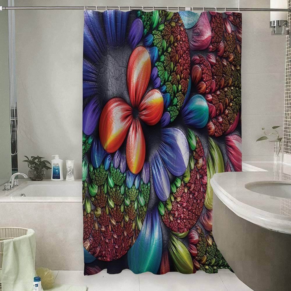 3D занавеска для ванны «Абстрактная красная бабочка»