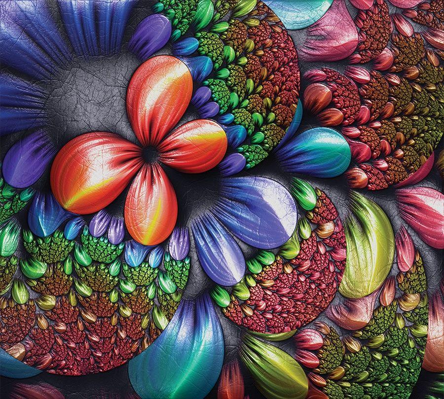 3D занавеска для ванны «Абстрактная красная бабочка» вид 2