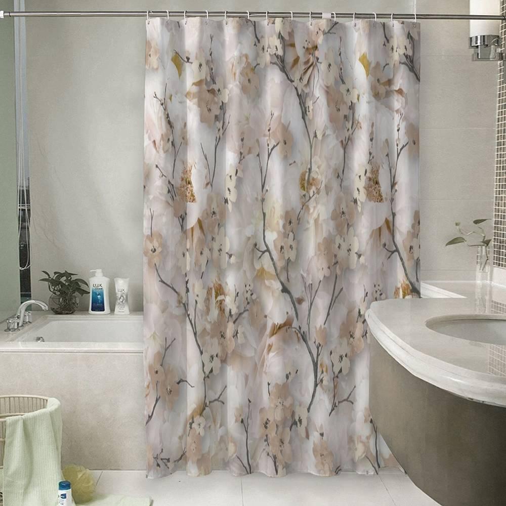 Штора для ванной «Аромат весны»