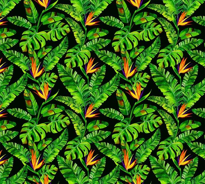 3D штора в ванную комнату «Карибские джунгли» вид 2