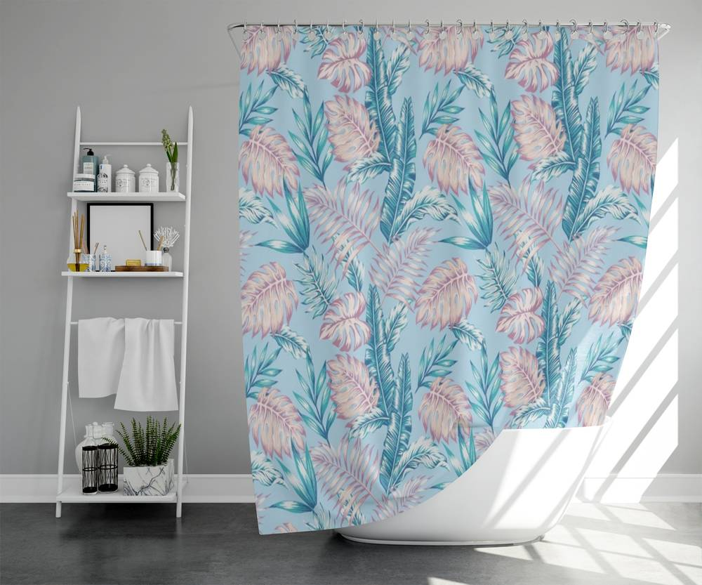 3D штора для ванной «Тропикал Арт» вид 5
