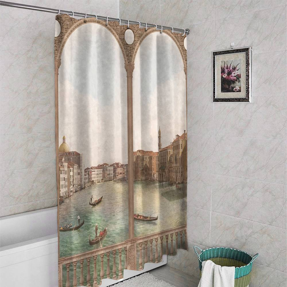 Штора для ванной «Старая Венеция» вид 4