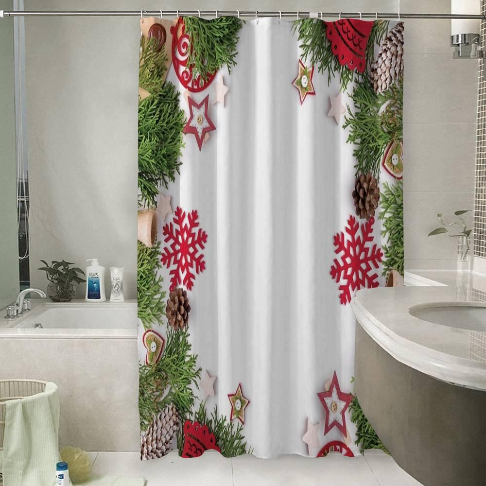 Шторы для ванной «Рождественская арка»