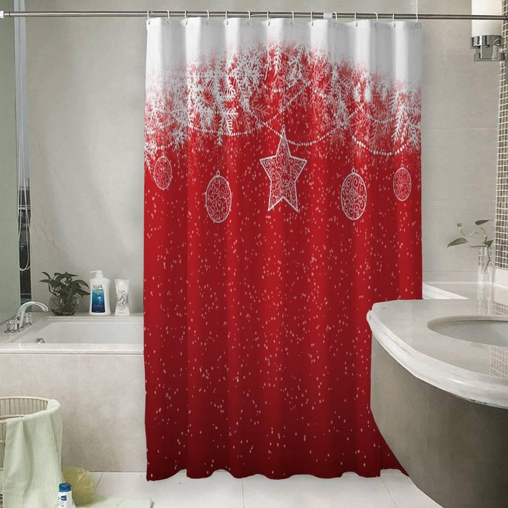 Шторы для ванной «Рождественский узор»