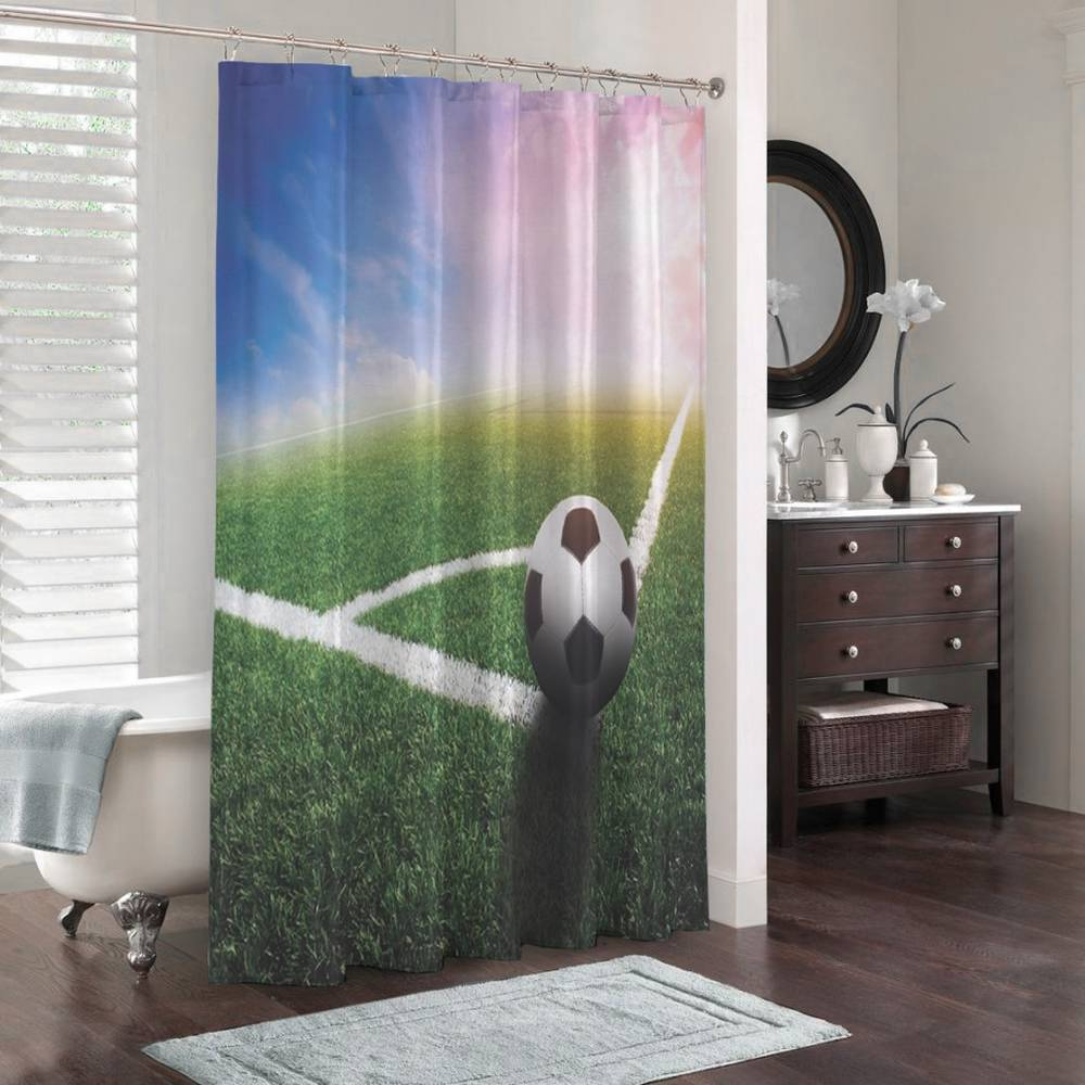 3D штора для ванной «Угловой» вид 3