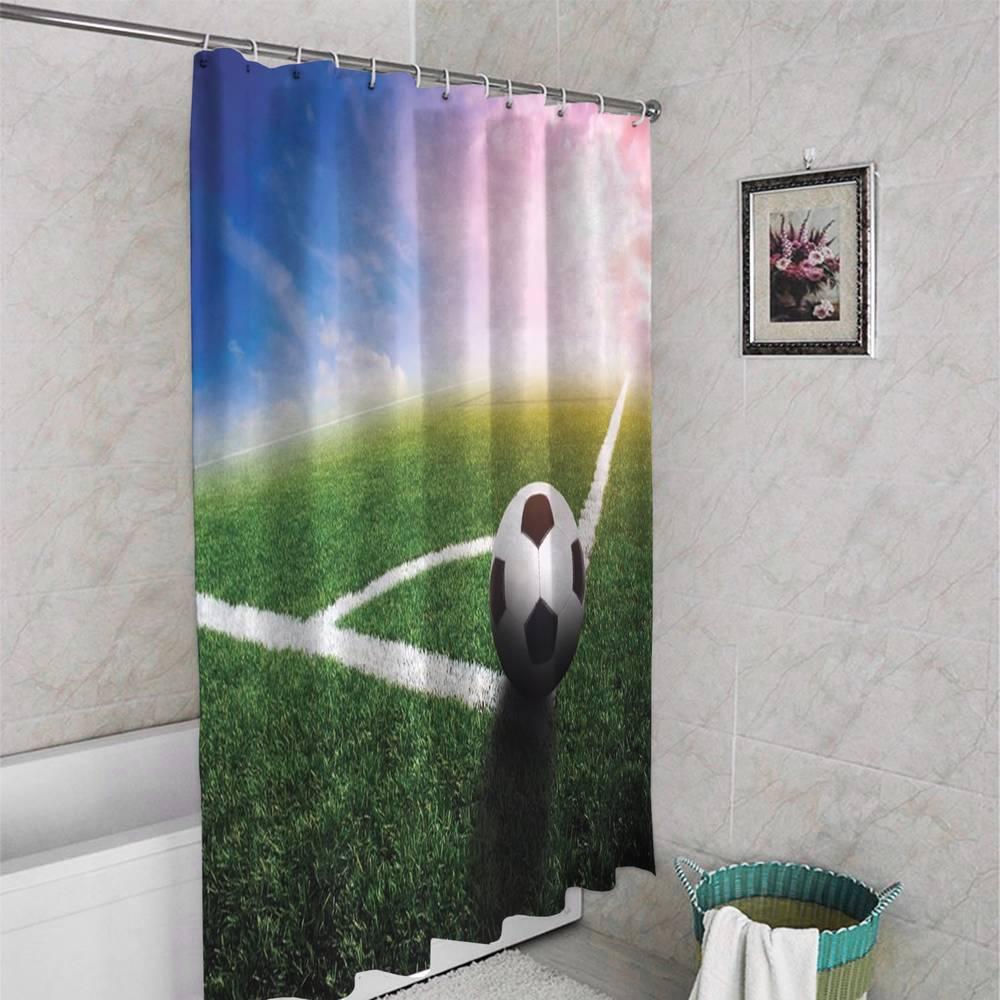 3D штора для ванной «Угловой» вид 4