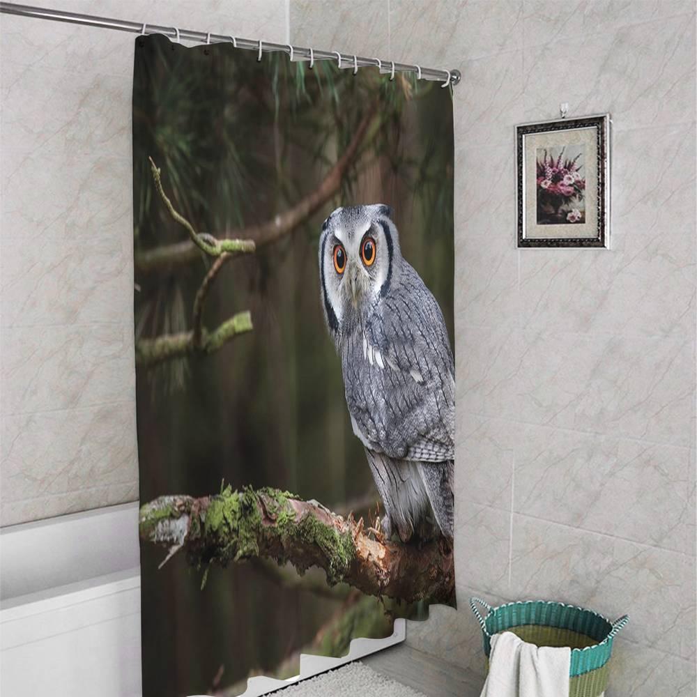 Занавеска для ванной «Симпатичная сова» вид 4