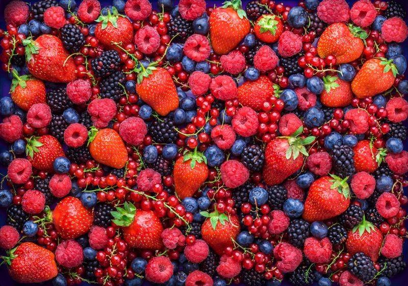 3D Фотообои «Ассорти из ягод»