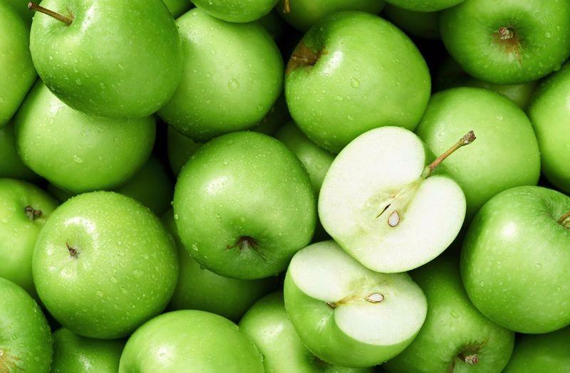 3D Фотообои «Композиция с зелеными яблоками»