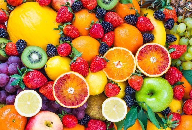 3D Фотообои «Цитрусы с ягодами»