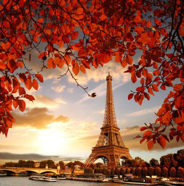 3D Фотообои 3D Фотообои «Яркая осень в Париже»