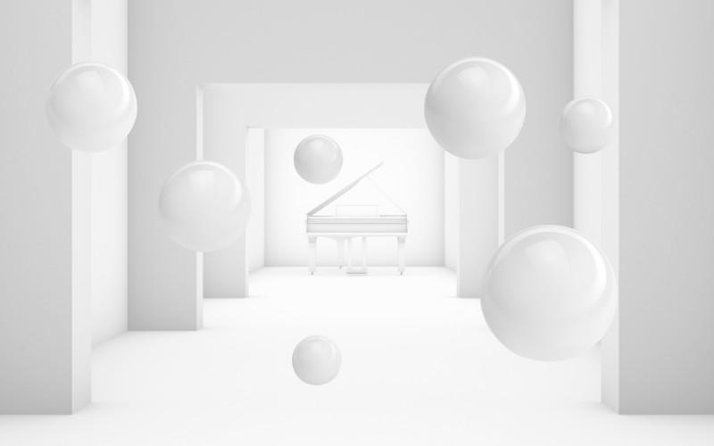 3D Фотообои 3D Фотообои  «Рояль в тоннеле»
