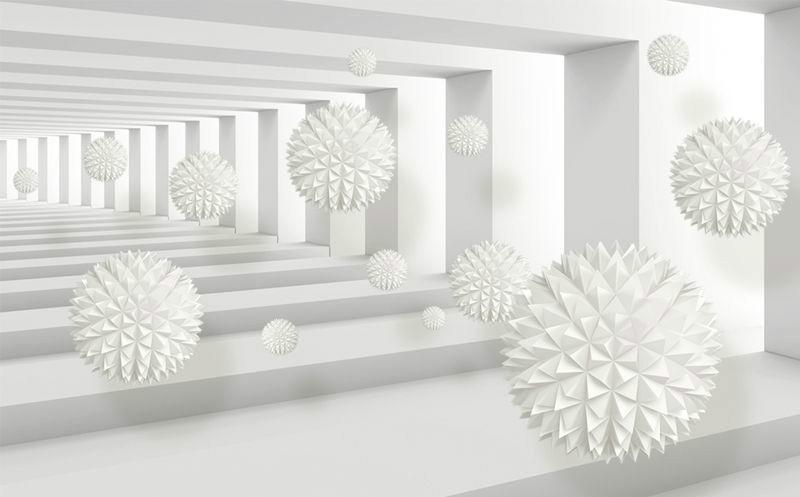 3D Фотообои 3D Фотообои «Колючие шары в тоннеле»