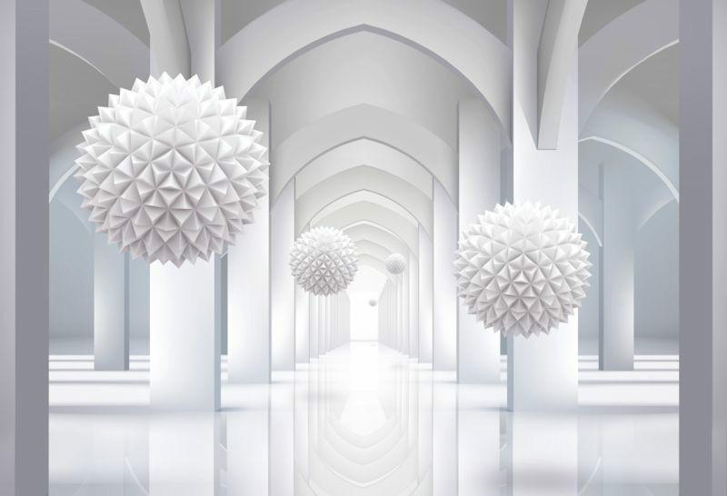 3D Фотообои 3D Фотообои «Объемная инсталляция в арочном тоннеле»