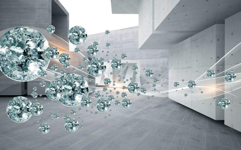 3D Фотообои 3D Фотообои «Поток драгоценных камней»