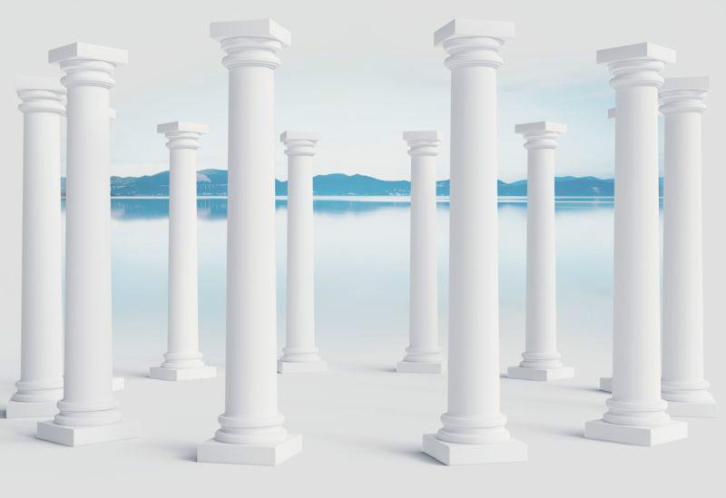 3D Фотообои 3D Фотообои «Абстракция с колоннами»