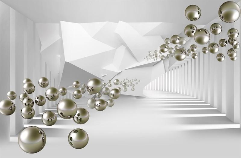 3D Фотообои 3D Фотообои «Абстракция с пузырями»