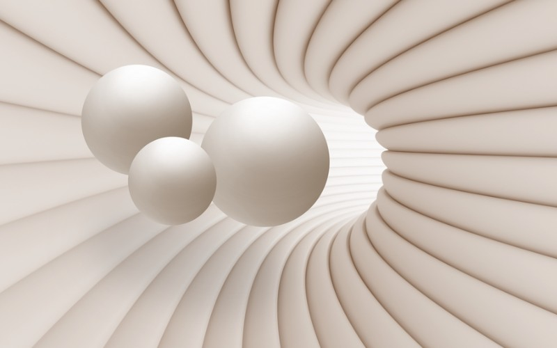 3D Фотообои 3D Фотообои «Шары в тоннеле»