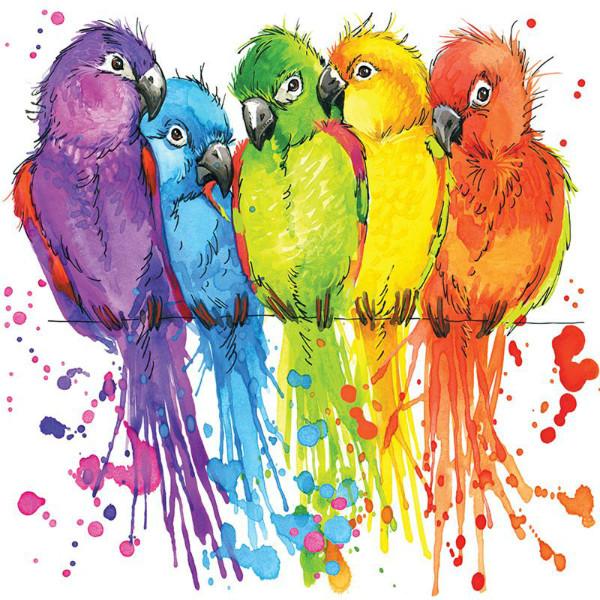 3D Фотообои 3D Фотообои «Яркие попугайчики»